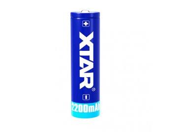 Akumulátor Xtar 2200mAh 18650, Li-ion, 3,7V, (včetně ochranného obvodu)