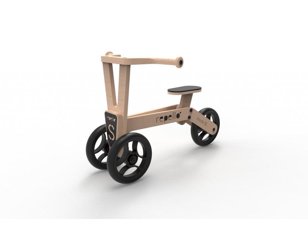 dřevěné odrážedlo tříkolka repello přírodní