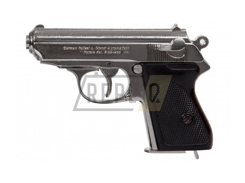 Německá pistole Waffen - SSPPK 1929 - nikl