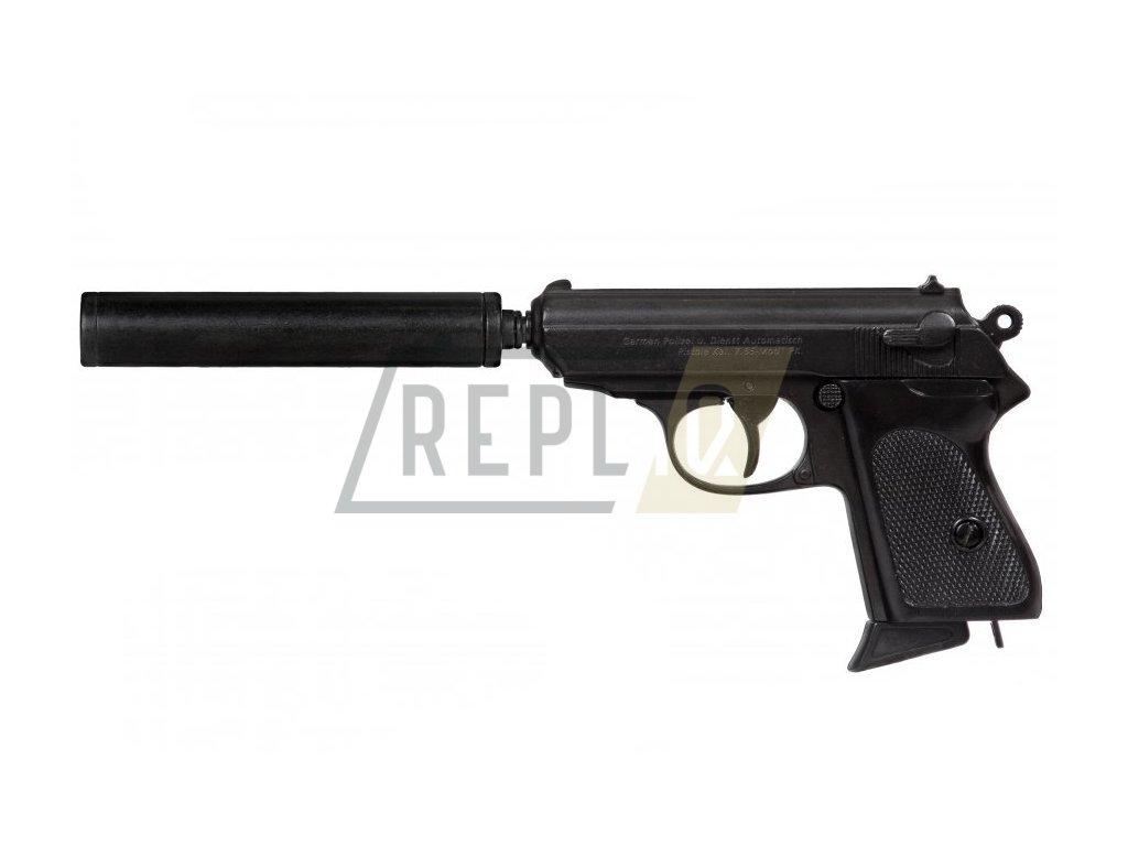 Poloautomatická Pistole s tlumičem ráže 7.65 - Německo 1931  + Voucher na další nákup