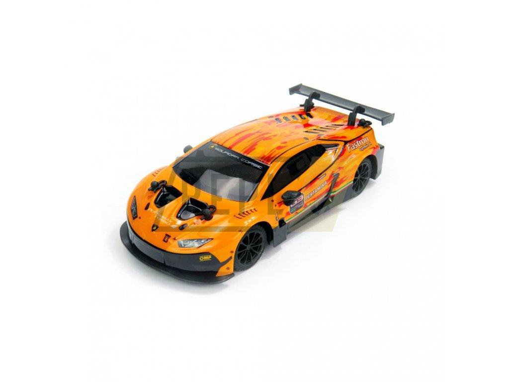 Siva Lamborghini Huracán GT3, licence,1:24, ovladač pro praváky/leváky, RTR  + Voucher na další nákup