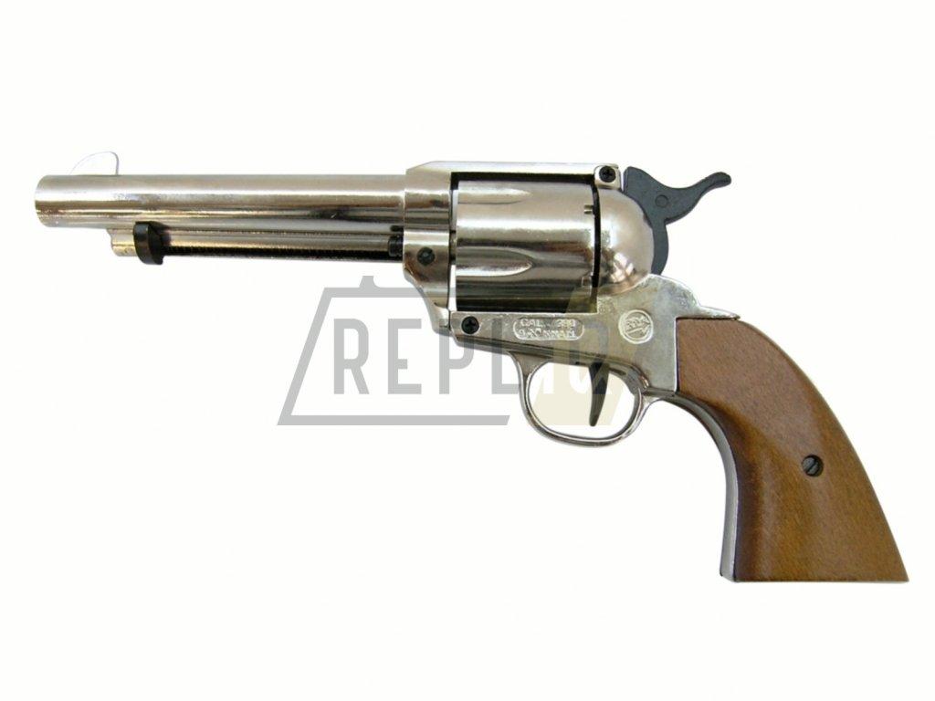 Plynový revolver Bruni Single Action 6RD 380 nikl cal.9mm