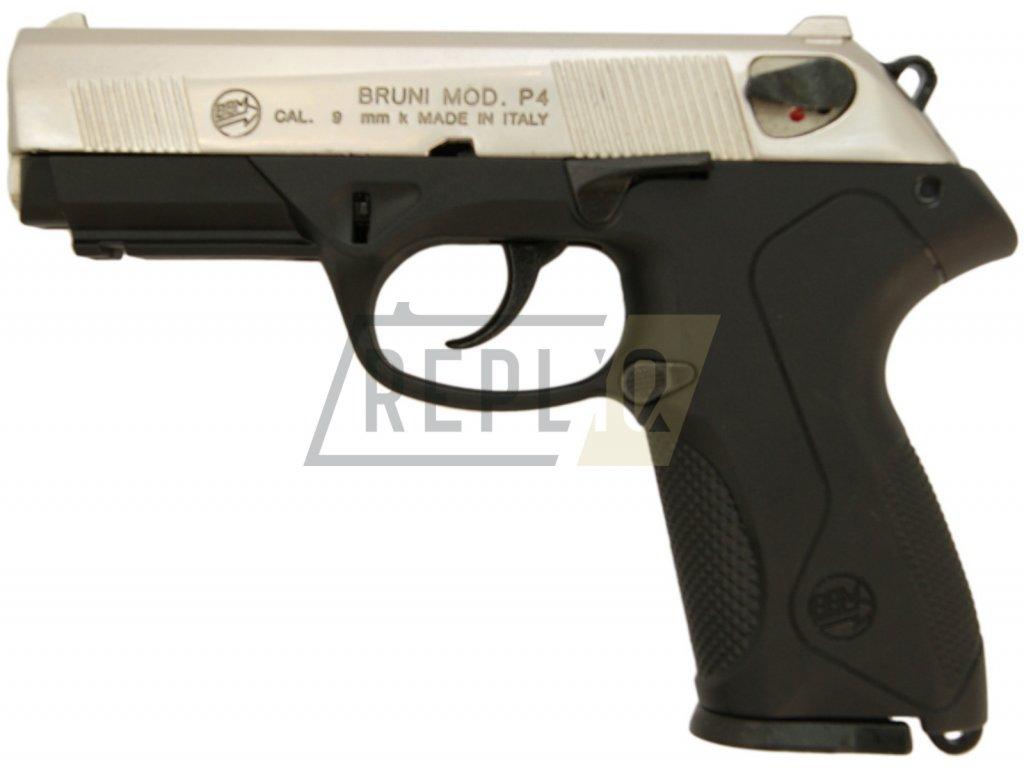 Plynová pistole Bruni P4 nikl cal.9mm