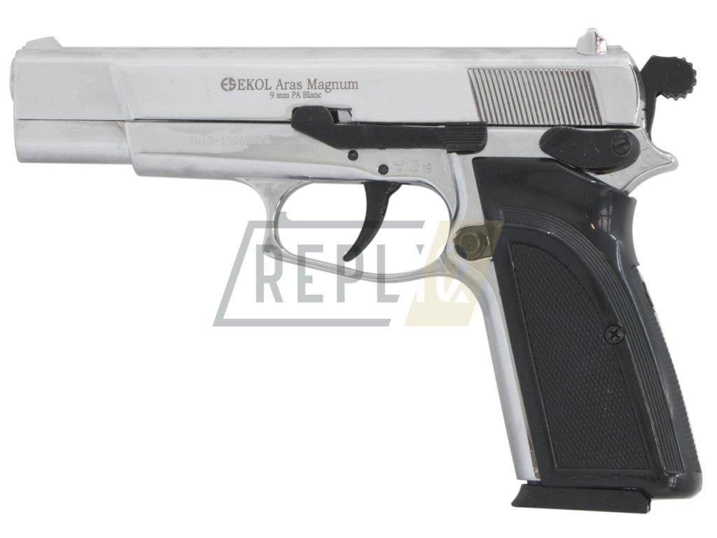 Plynová pistole Ekol Aras Magnum chrom cal.9mm