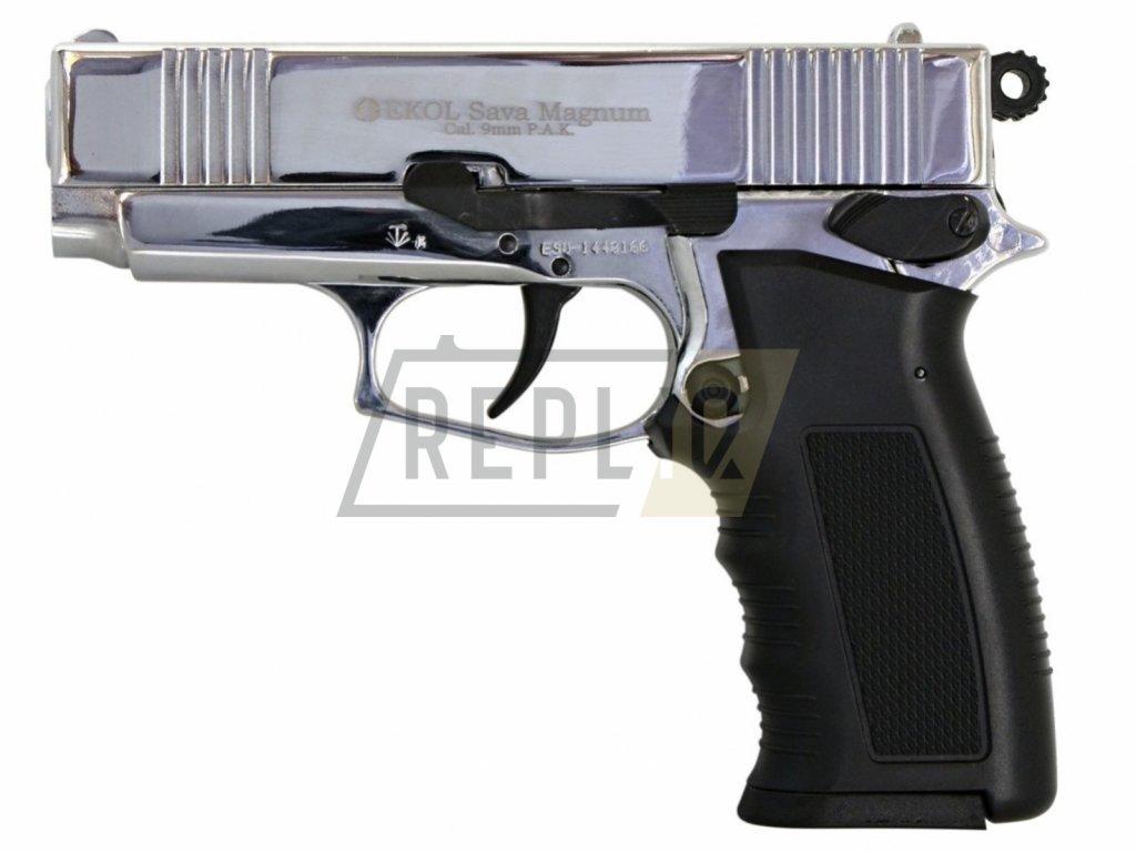 Plynová pistole Ekol Sava Magnum chrom cal.9mm