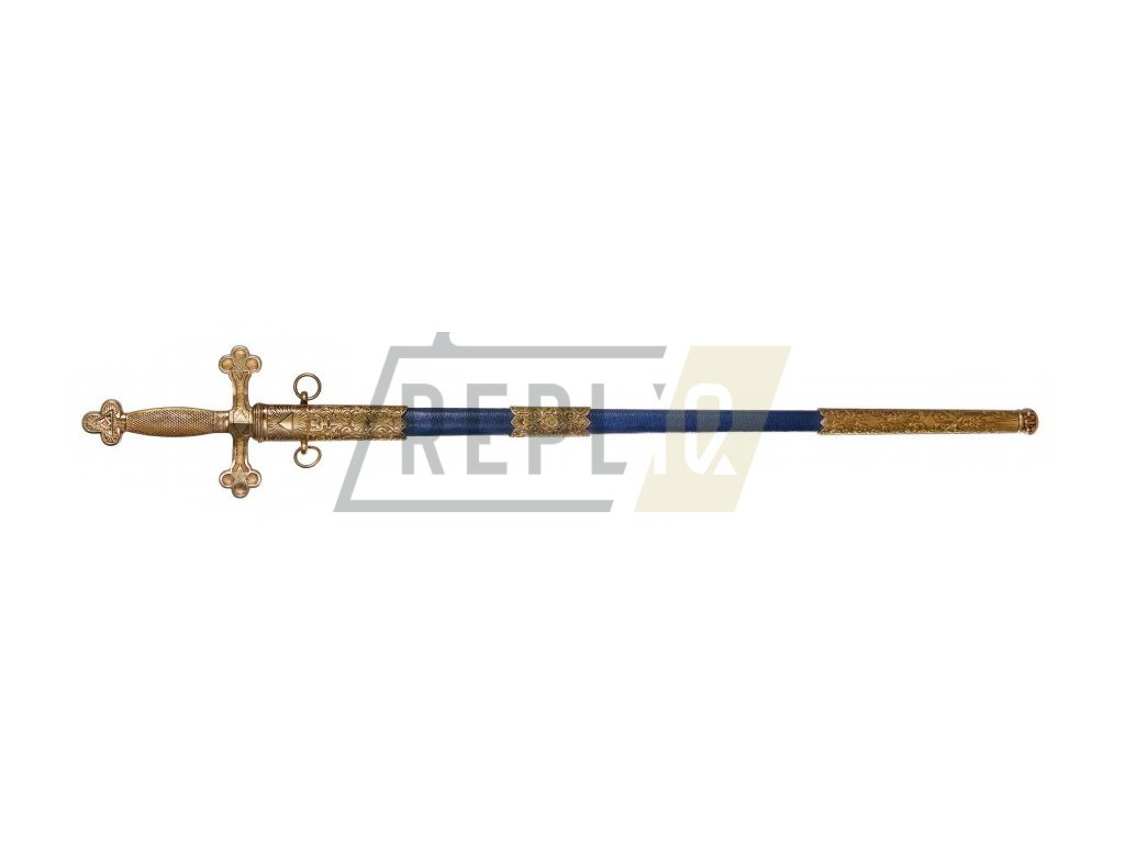 Meč Masonský 18. - 19. stol. s pochvou