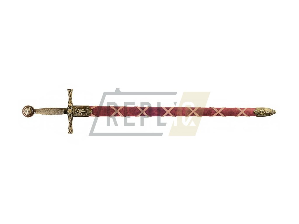 Meč Excalibur legendární meč krále Artuše (mosazný)