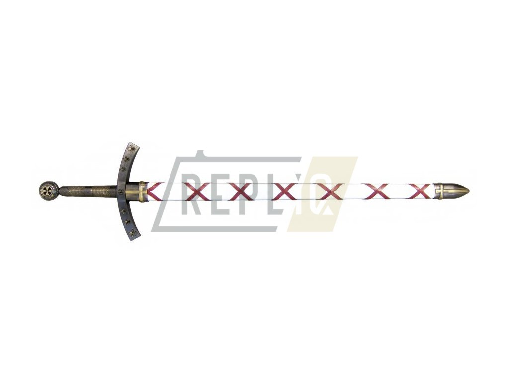 Meč Huguese de Payense Fr.  poslední křižácké tažení (mosaz)