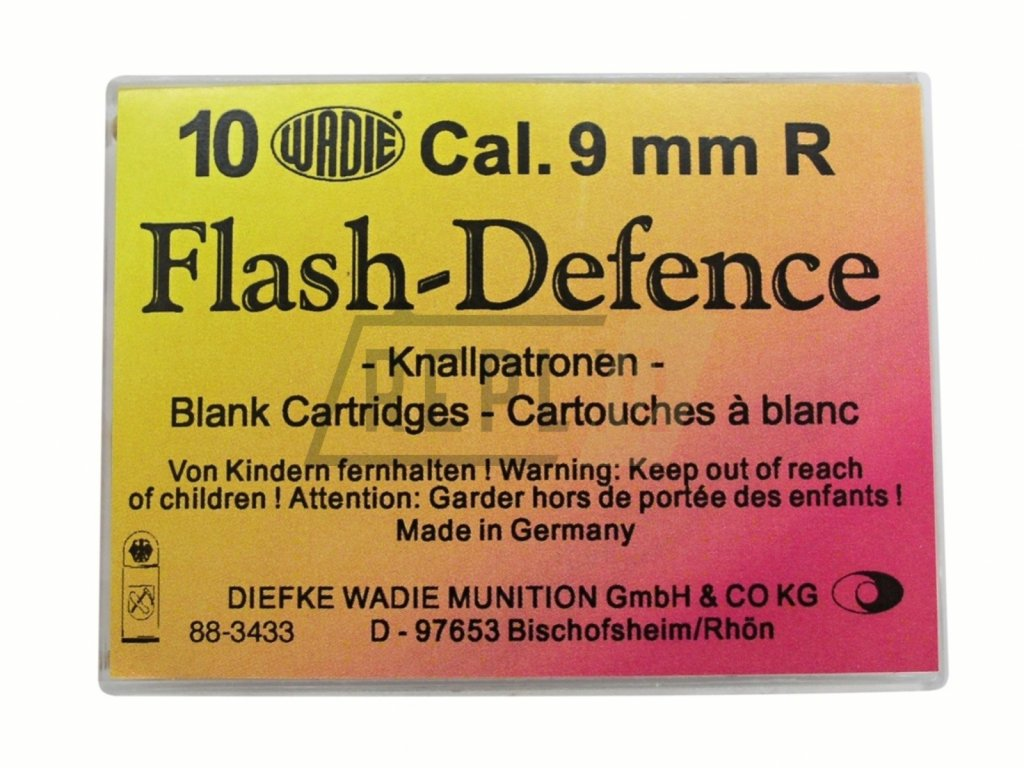 Plynové náboje Flash Defence 9mm revolver