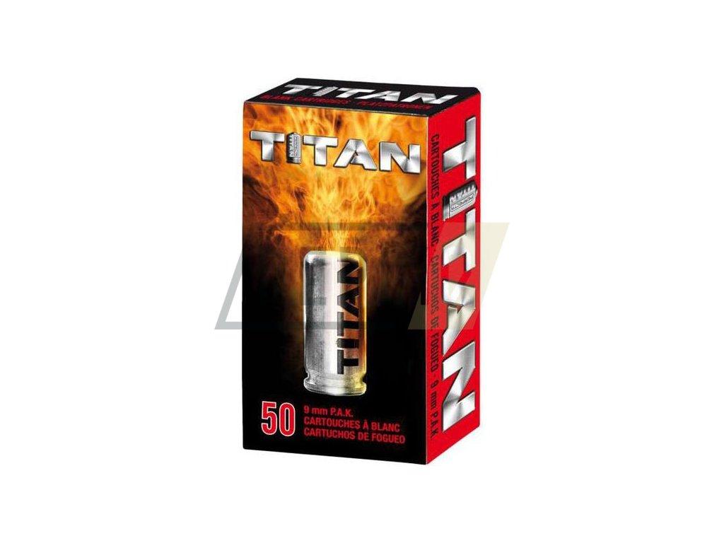 Startovací náboje Perfecta Titan 9mm pistole 50ks