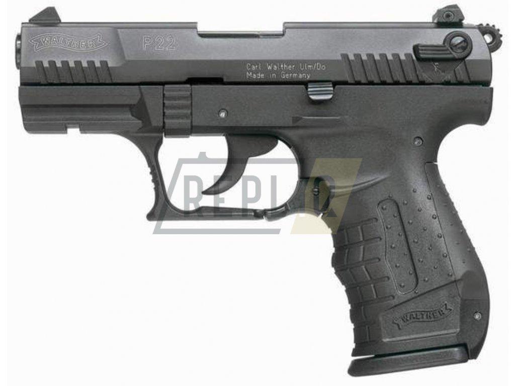 Plynová pistole Umarex Walther P22 černá cal.9mm