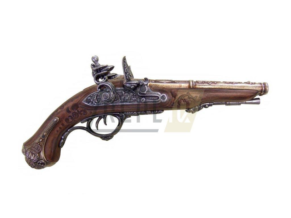 Pistole dvouhlavňová vyrobená pro Napoleona 1806