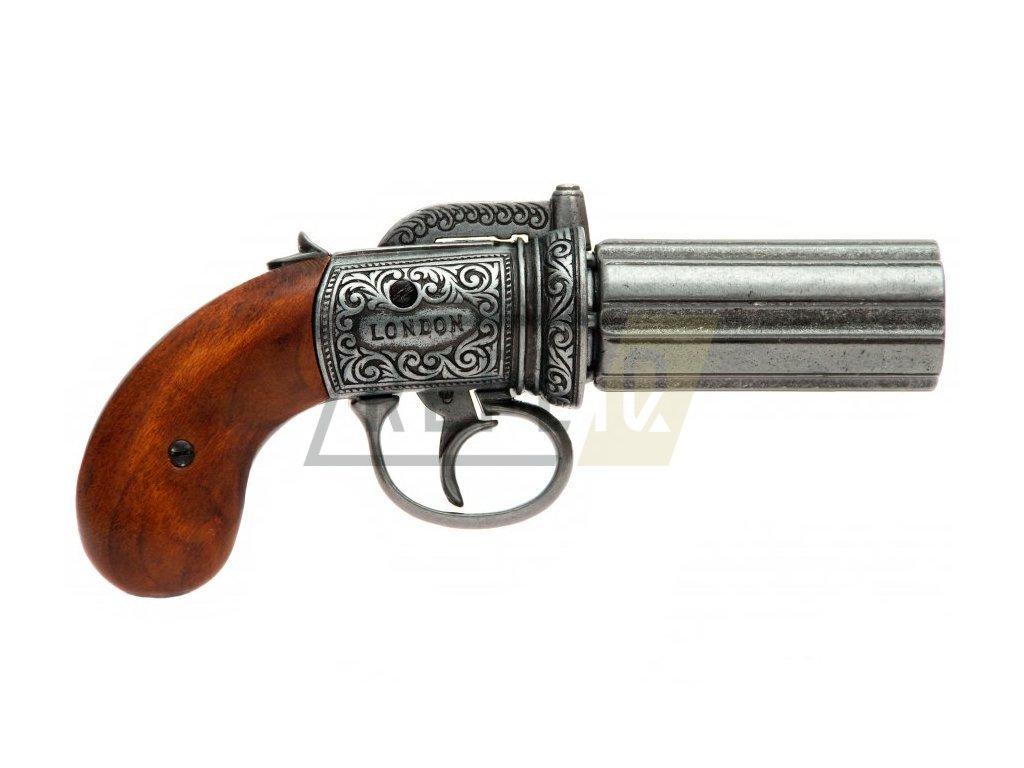 Revolver šestihlavňový tzv. Pepřenka - Anglie 1840