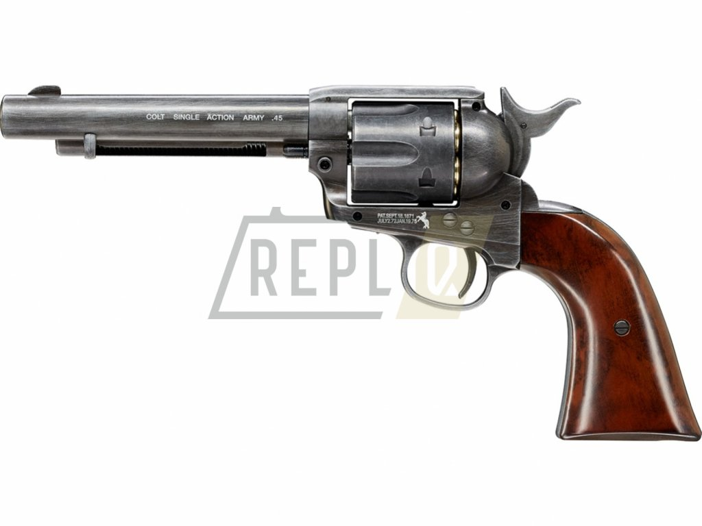 Vzduchový revolver Colt Single Action Army SAA .45 Antique