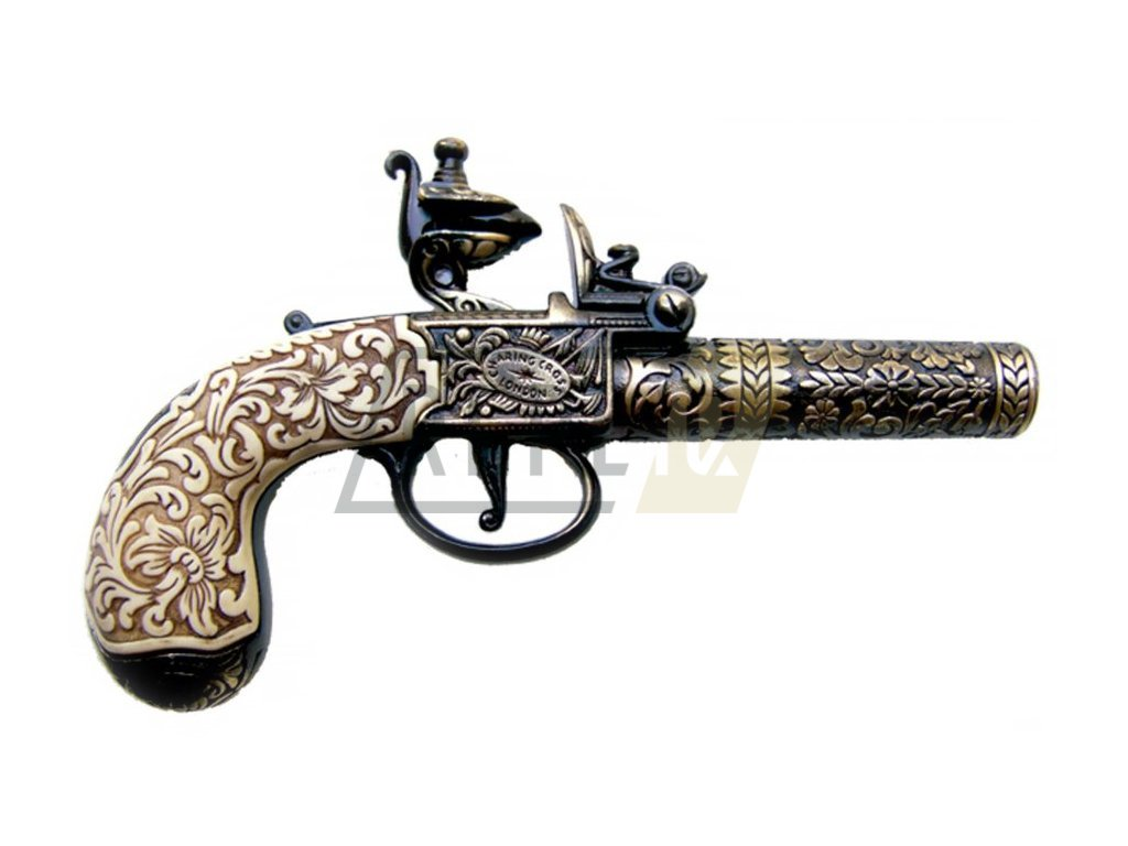 Pistole kapesní Londýn 1795 - mosaz