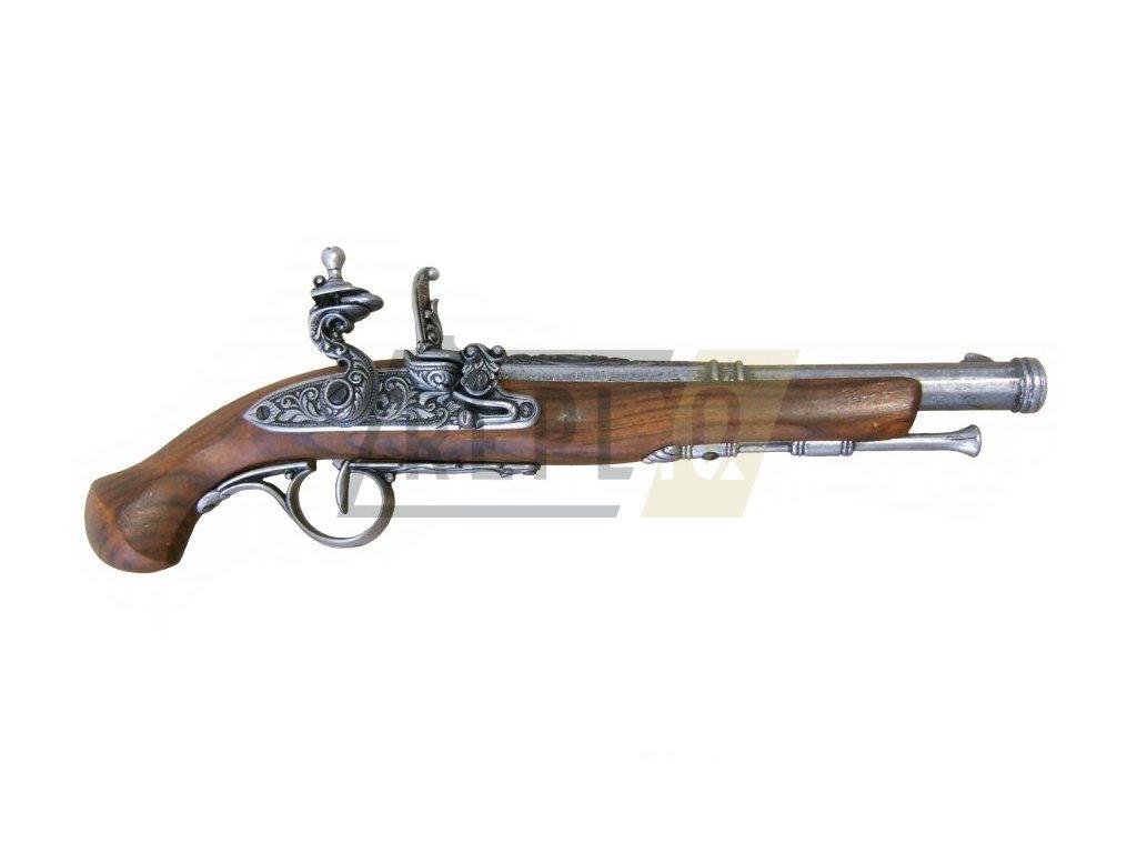 Pistole křesadlová Anglie 18. století