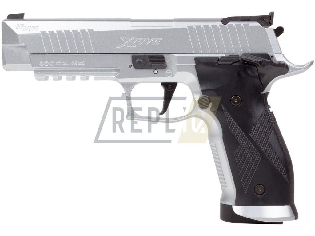 Vzduchová pistole Sig Sauer X-FIVE Silver 4,5mm
