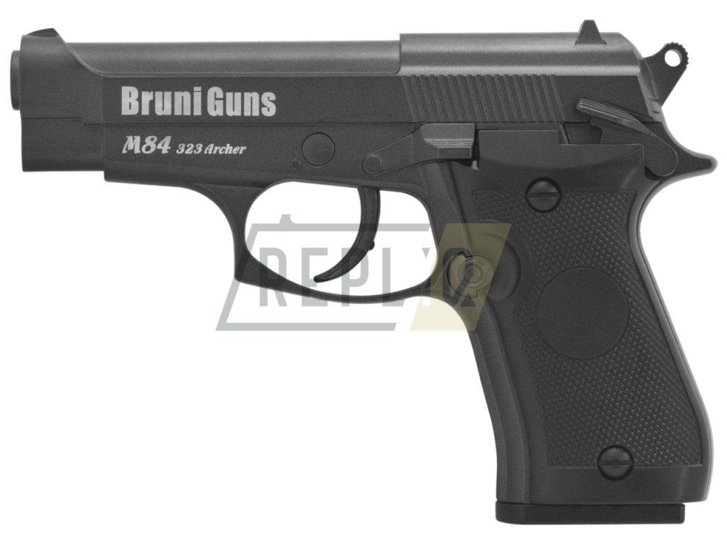 Vzduchová pistole Bruni M84 323 Archer černá