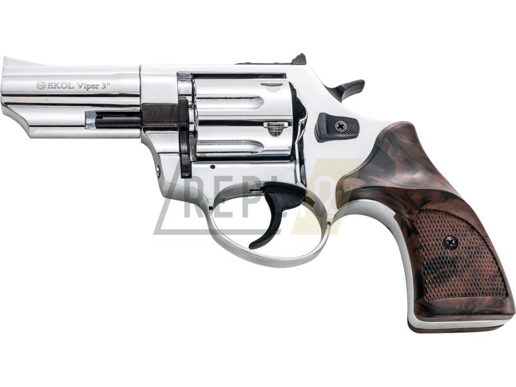 """Plynový revolver Ekol Viper 3"""" chrom cal.9mm"""