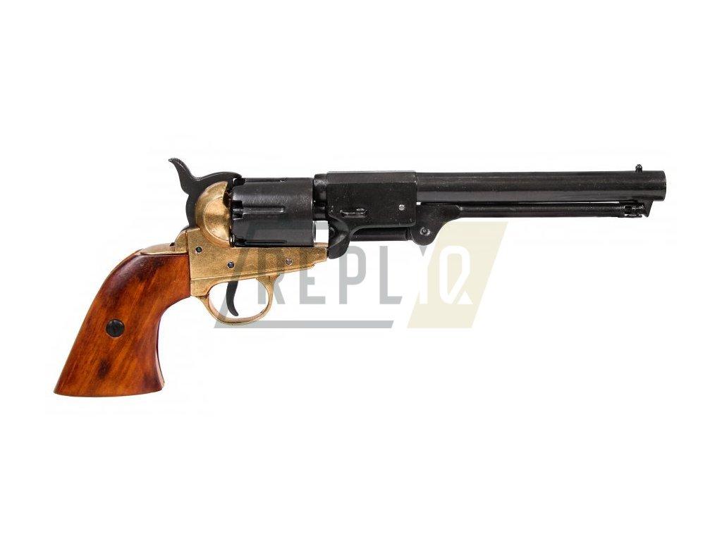 Revolver konfederace - USA 1860 (mosaz)
