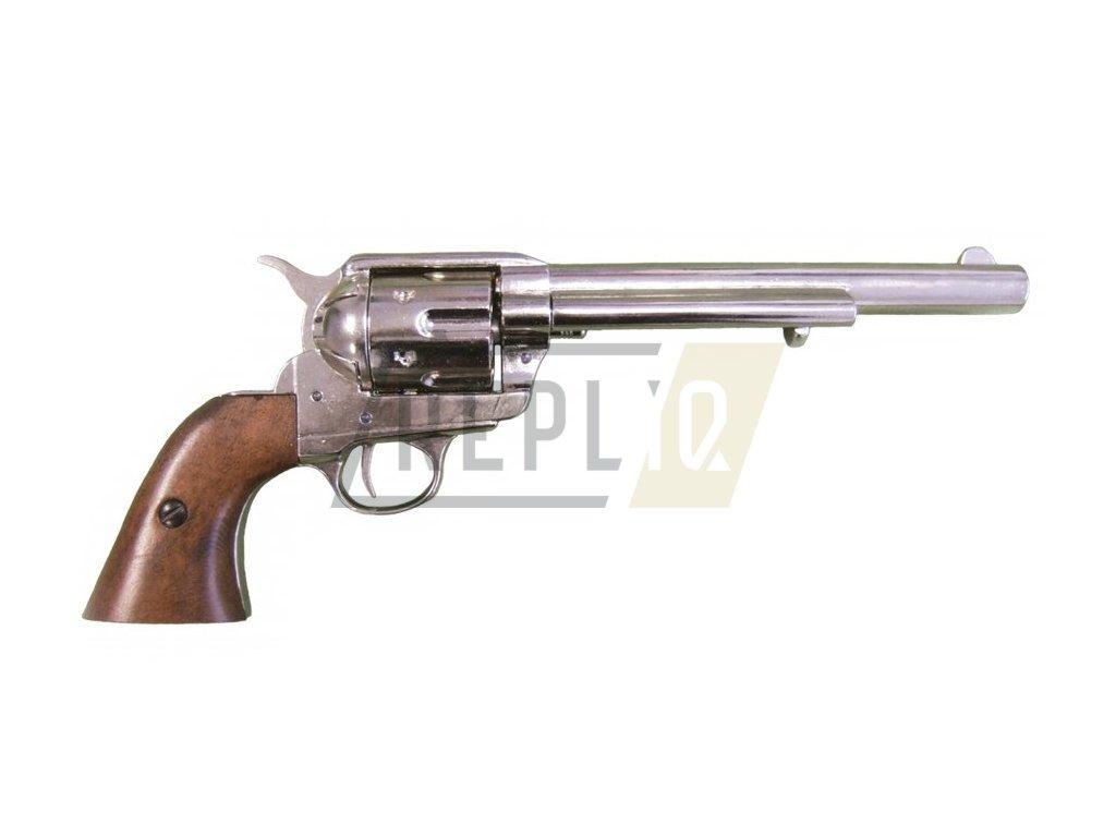 Revolver ráže 45 - USA 1873, 7 1/2' (nikl)  + Voucher na další nákup