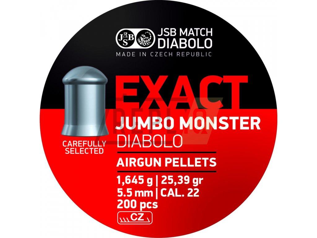 Diabolo JSB Exact Jumbo Monster 5,52mm 200ks