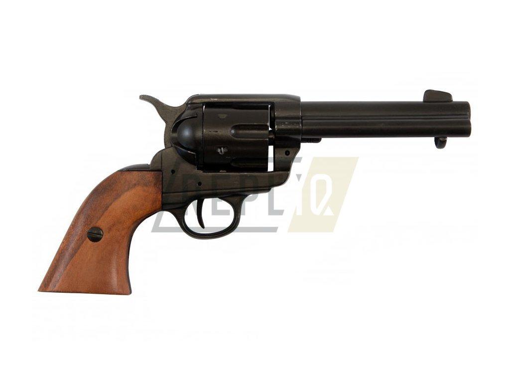 """Revolver cal.45 PEACEMAKER 4,75"""", USA 1873 (černý) v kazetě s náboji  + Voucher na další nákup"""