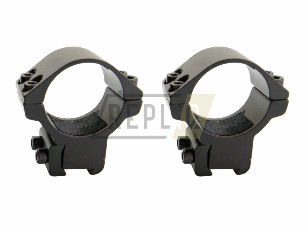 Montáž dvoudílná 11mm / 25,4mm nízká Raven