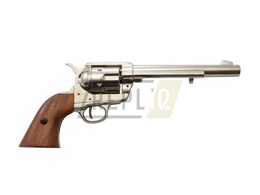 Revolver cal.45 Americké kavalerie - USA 1873 (nikl)  + Voucher na další nákup