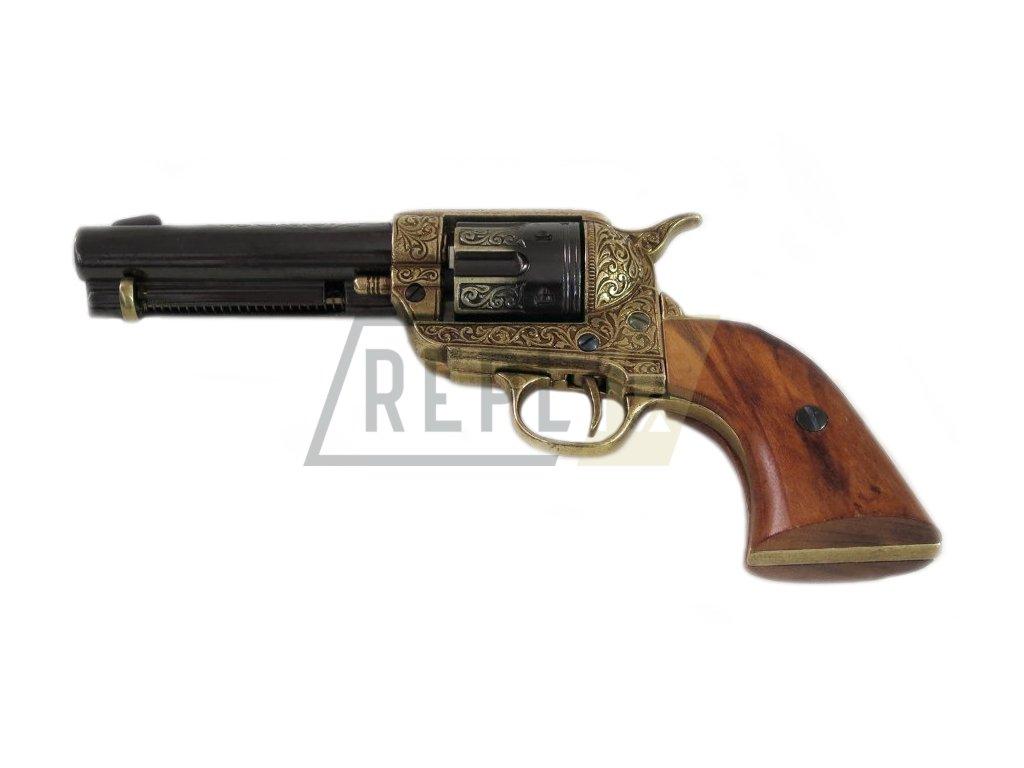 "Revolver cal.45 PEACEMAKER 4,75"", USA 1873 (rytý)  + Voucher na další nákup"