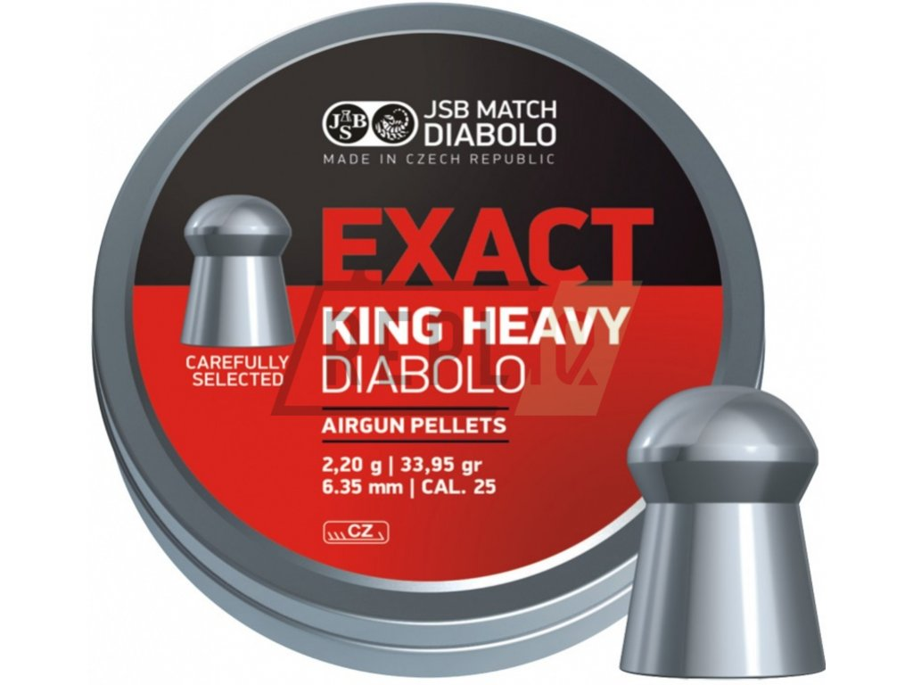 Diabolo JSB Exact King Heavy 6,35mm 150ks