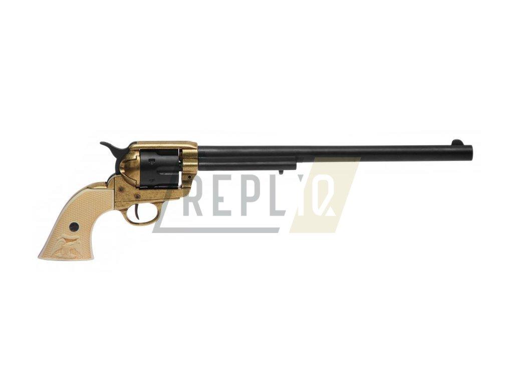 """Revolver cal.45 PEACEMAKER 12"""", USA 1873 (černý s mosazí)"""