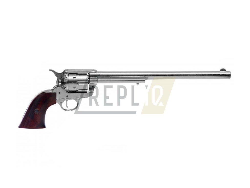 """Revolver cal.45 PEACEMAKER 12"""", USA 1873 (nikl)  + Voucher na další nákup"""