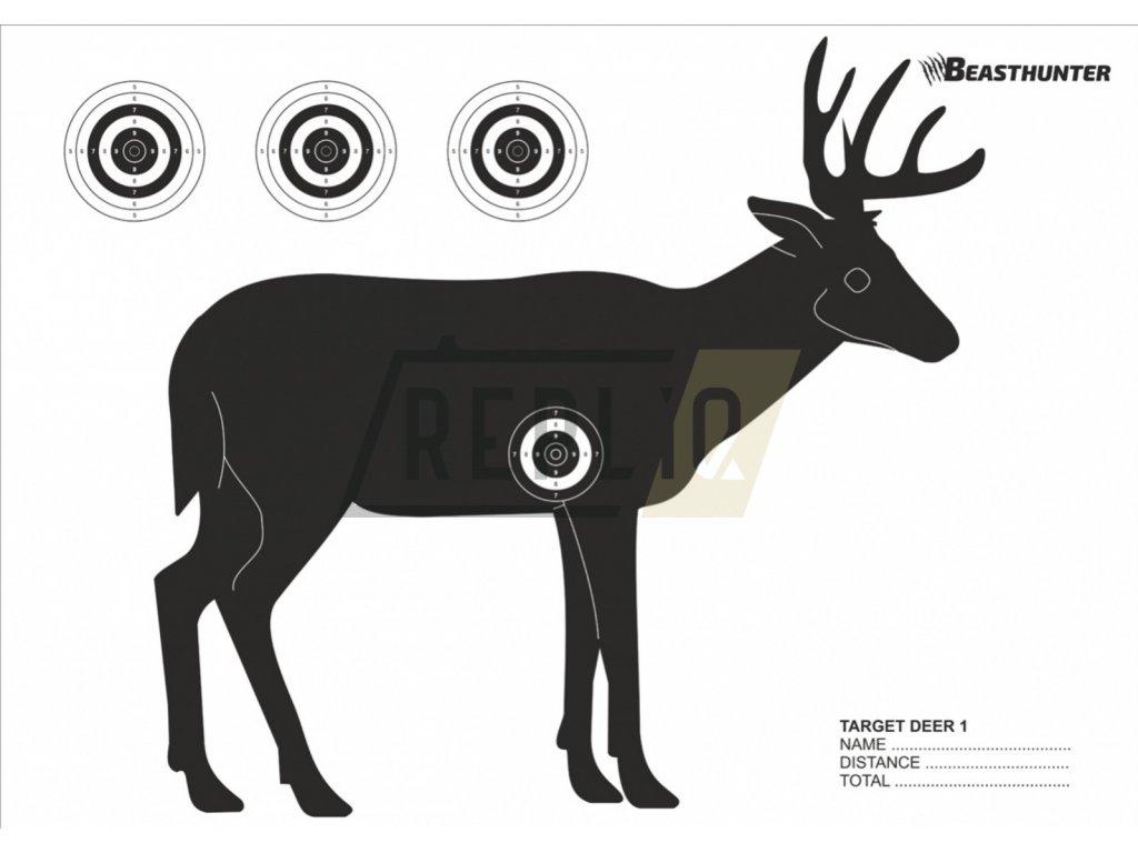Terč silueta Beast Hunter Deer 10ks