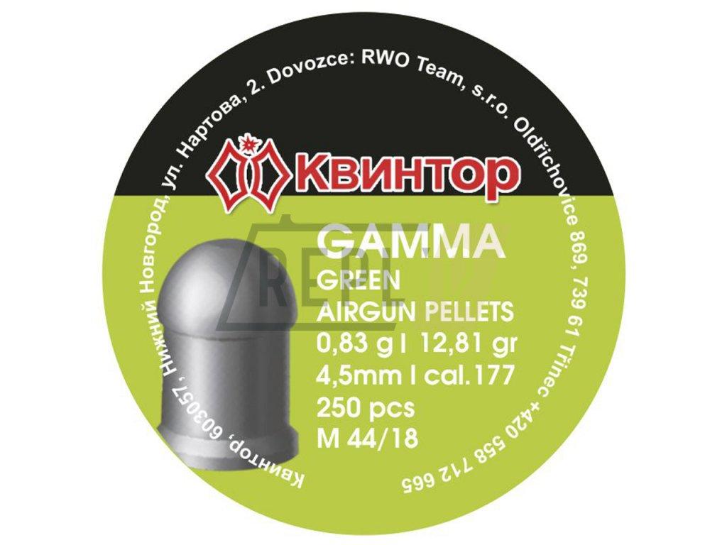 Diabolo Kvintor Gamma Green 4,5mm 250ks