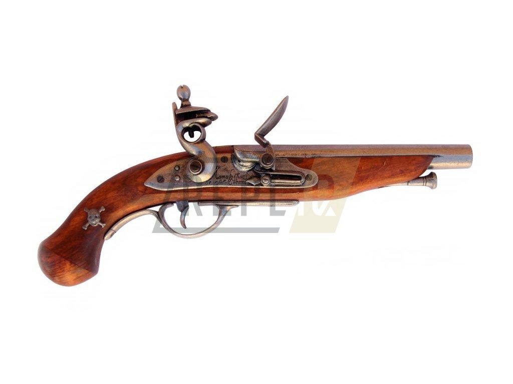 Pistole pirátská - Francie 18.stol.