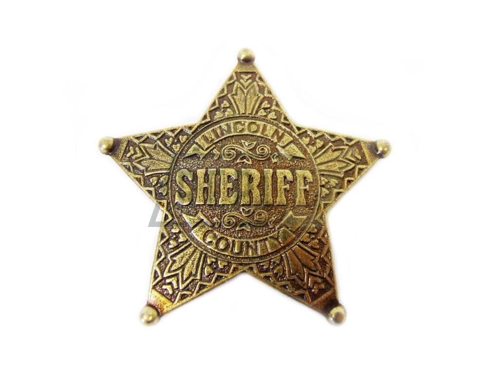 Šerifská hvězda LINCOLN COUNTY