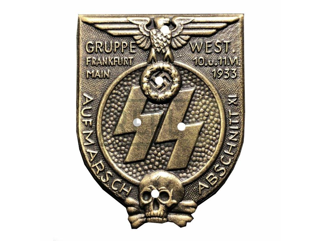 ss gruppe west abschnitt xi frankfurt am main rally badge
