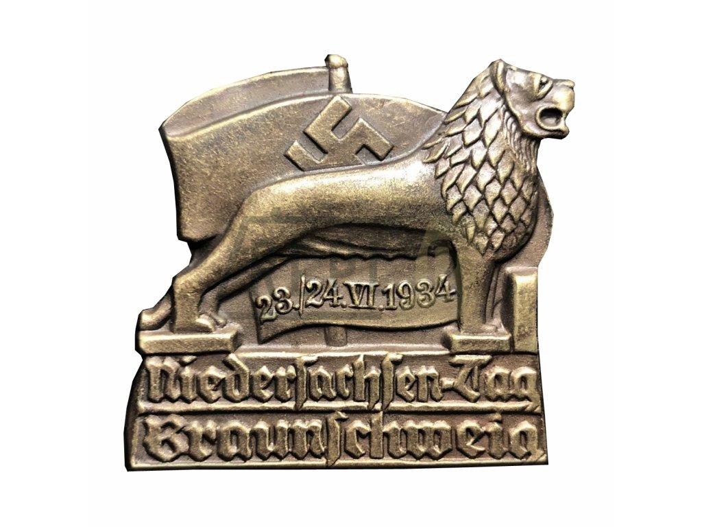 """Odznak 1934 BRAUNSCHWEIG """"DAY OF LOWER SAXONY"""""""