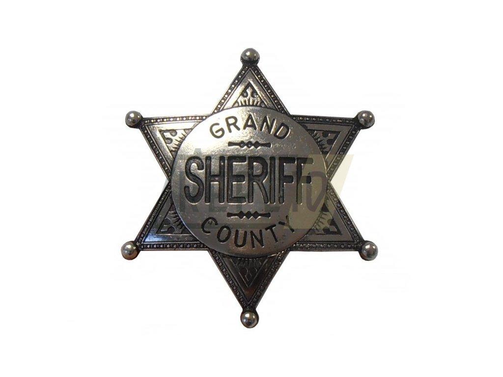 Odznak šerifa okresu Grand niklový