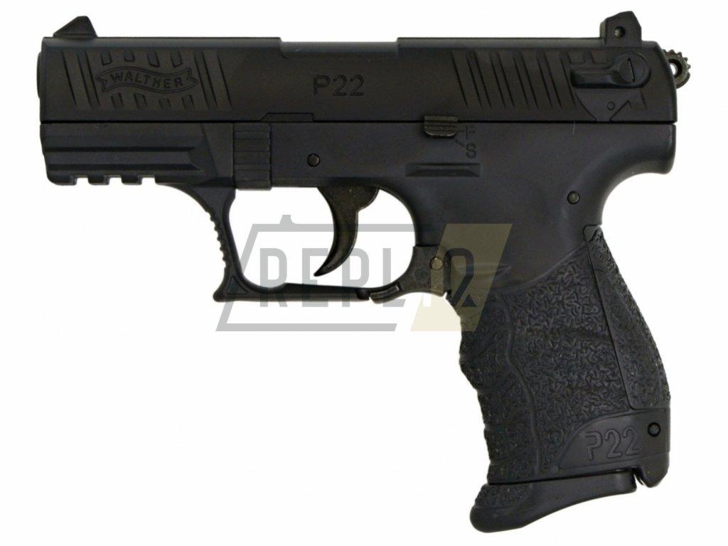 Airsoft Pistole Walther P22Q černá Metal Slide ASG