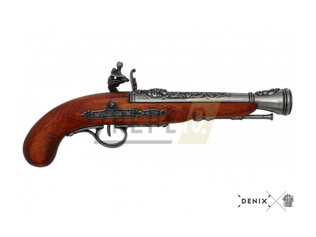 denix Flintlock pirate pistol 18th C left handed
