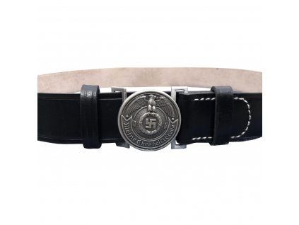 black leather belt for officers
