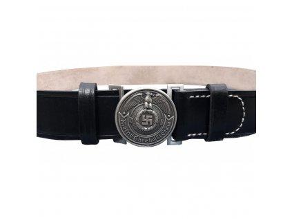 black leather belt for officers