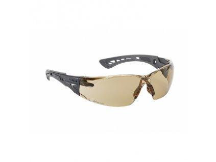 Brýle ochranné RUSH+ hnědá skla