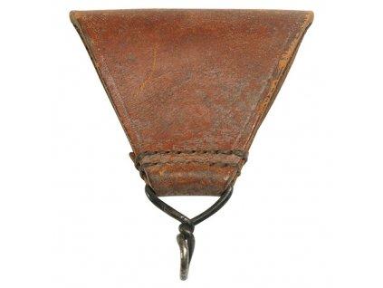 Poutko FRANCOUZSKÉ trojuhelník kožené originál použité