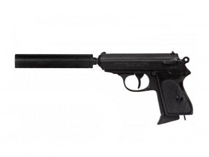 Poloautomatická Pistole s tlumičem ráže 7.65 - Německo 1931