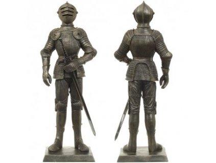 Socha rytíře v Maxmiliánké zbroji, 65 cm