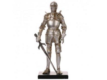 Rytíř v turnajové zbroji s mečem, soška