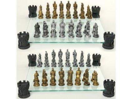 Šachový set Rytíři s pěšáky